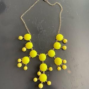 Yellow glass stone Necklace